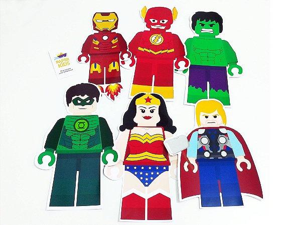 Personagem LEGO decorativo com recorte especial - 11 unidades