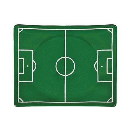 Prato G estampa campo de futebol - 26 x 20,5cm
