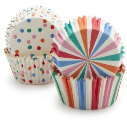 Forminhas para cupcake (multi cores) - 48 unidades