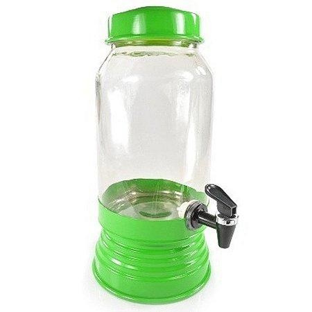 Suqueira de vidro verde - 3,250 ml