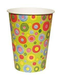Copo de papel biodegradável - Bolinhas (8 unidades)