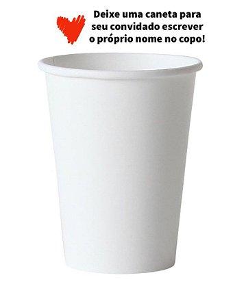 Copo de papel biodegradável Branco - Sem estampa (8 unidades)