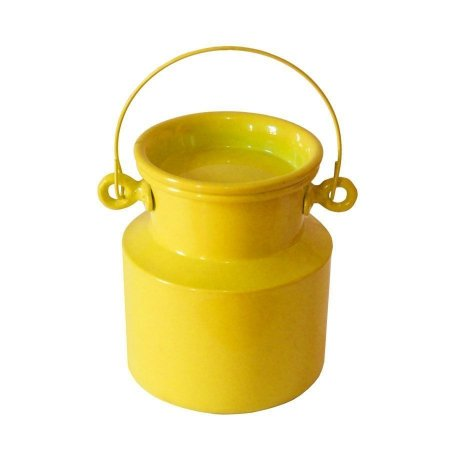 Leiteira de alumínio - amarela