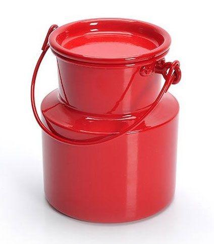 Leiteira de alumínio - Vermelho