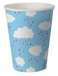 Copo de papel biodegradável - Nuvem (8 unidades)