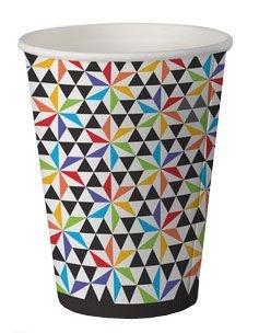 Copo de papel biodegradável - Geométrico (8 unidades)