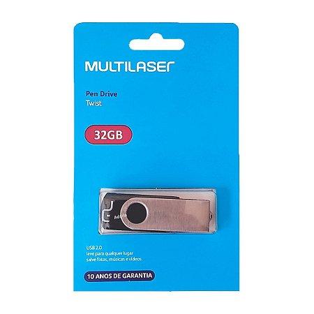 Pendrive 32GB Multilaser TWIST Preto - PD589