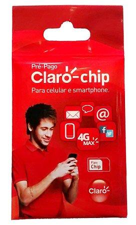 Chip Claro 4G triplo corte Tamanho Normal Micro e nano