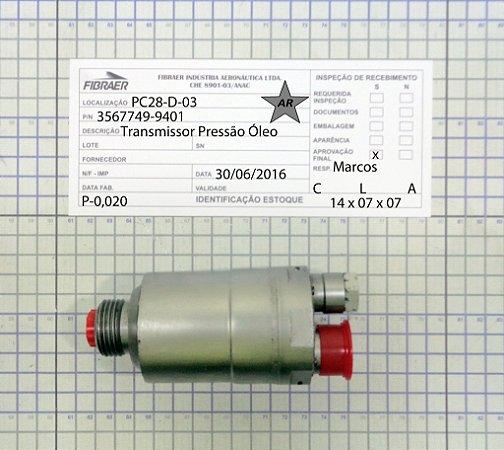 TRANSMISSOR PRESSÃO DE ÓLEO 3567749-9401