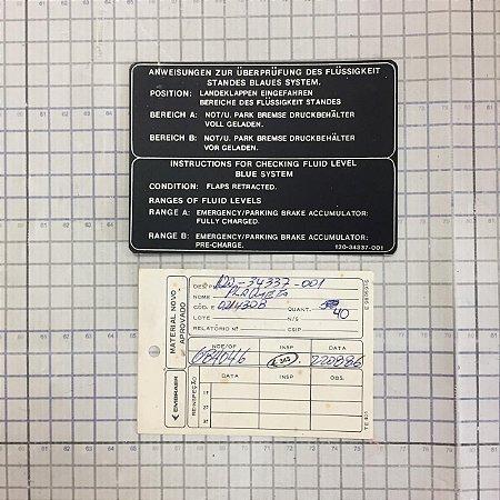 PLAQUETA - 120-34337-001