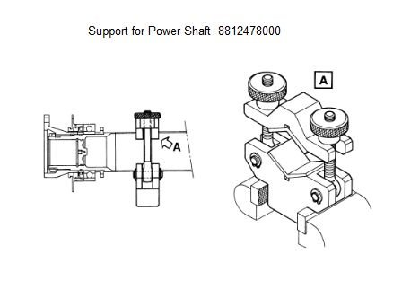 Support for Power Shaft - 8812478000