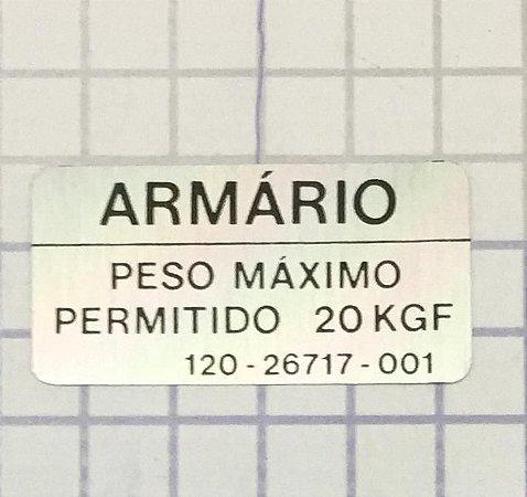 PLAQUETA - 120-26717-001