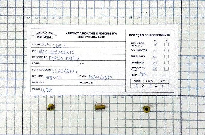 Porca Rebite NAS1329A06K