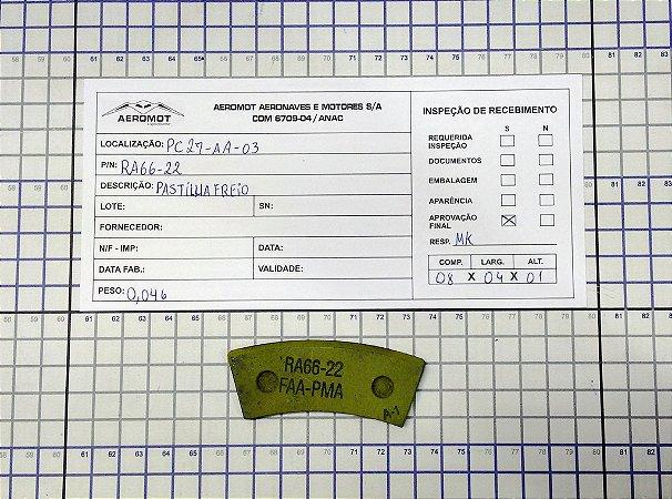 PASTILHA FREIO - RA66-22
