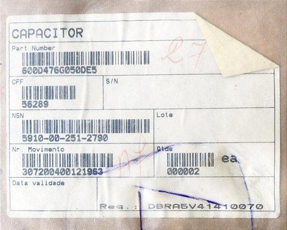 CAPACITOR - 600D476G050DE5