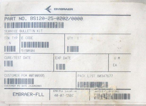 SERVICE BULLETIN KIT - BS120-25-0202/0000