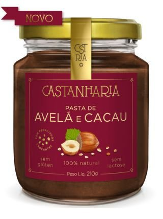 Pasta de Avelã e Cacau 210 g - Castanharia