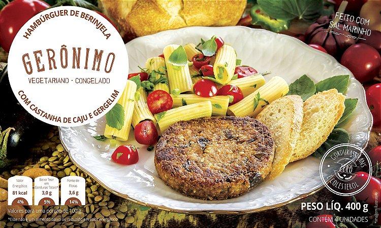 Hambúrguer de berinjela com castanha de caju 400g (4 unidades) - Gerônimo