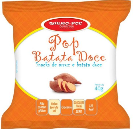Pop Batata Doce Original 40g - QueroPoc