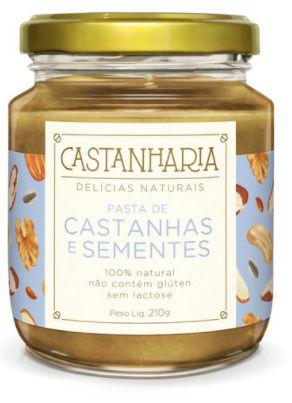 Pasta de Castanhas e Sementes 210g - Castanharia