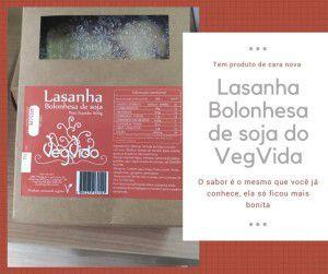 Lasanha Bolonhesa de Soja 600g - VegVida