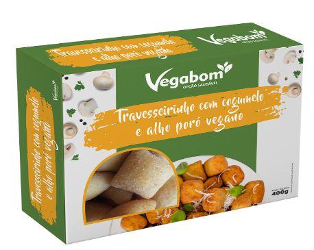 Travesseirinho com Cogumelo e Alho poró vegano (400g) - Vegabom