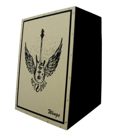 Cajon Acustico Inclinado Wings - Estampa Personalizada - Wrr