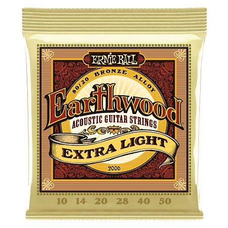 Cordas Ernie Ball P/ Violão - Aço Bronze- Earthwood 2006 - Extra Light