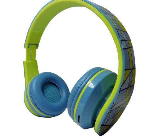 Fone de ouvidos c/ Microfone Wings – Wireless Bluetooth Radio Fm -Headphone bt003 - Blue - Lançamento!