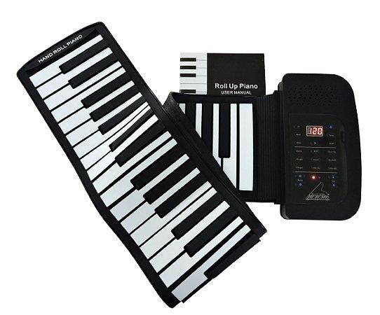 Teclado Musical Flexível 61 Teclas Usb / Midi - konix - Hand Roll Piano - PA61 - Lançamento!