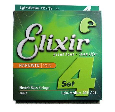Encordoamento Contrabaixo 4 Cordas - Elixir Nanoweb - 14077 (original USA)