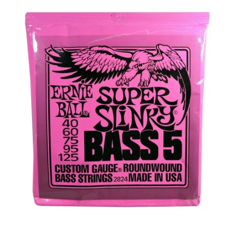 Encordoamento Contrabaixo 5 Cordas - Ernie Ball Super Slinky  - 2824 (original USA)