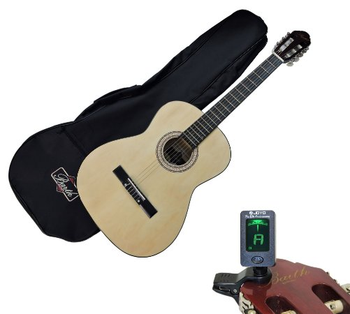 Violão Acústico Barth Guitars – Nylon mod. Estudante - NT + Capa Bag + Afinador Joyo