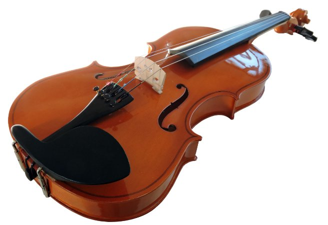 Violino p/ Canhoto Barth Violin  4/4 Natural Bright  - com Estojo + Arco + Breu