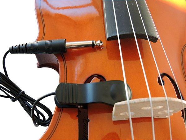 Captador Piezo p/ Violino com Clip + Plug P10 - Ecp-50
