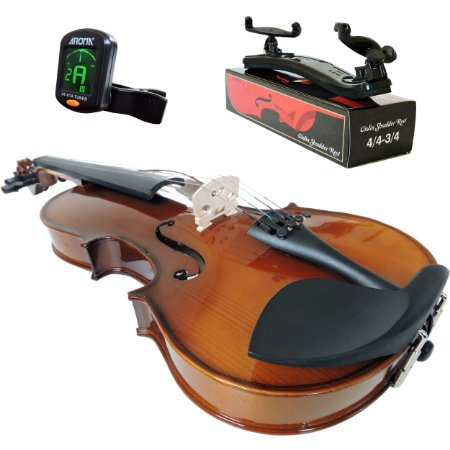 Kit Violino Barth  Old Bright 4/4 - Tampo Solido com Estojo Cr + Arco + Breu + Afinador + Espaleira