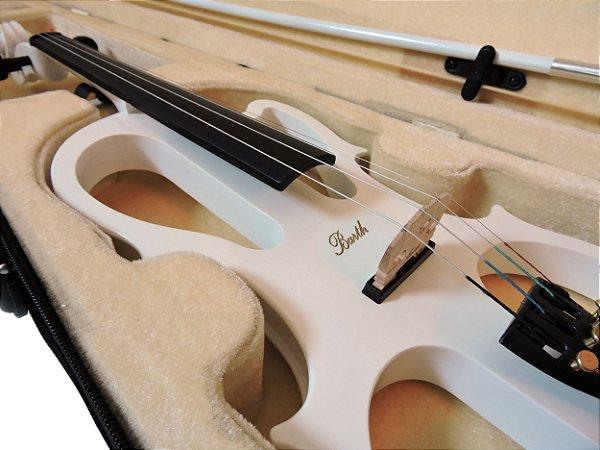 Violino Elétrico Barth Violin 4/4  - Solid Wood Wt + Estojo + Arco + Breu + Fone