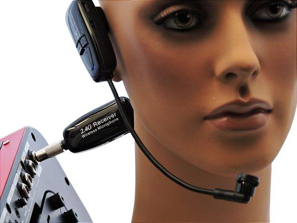 Microfone sem Fio Wireless 2.4G XXLive - Transmissor e Receptor para Shows, Palestras, Academias, Escolas - G18