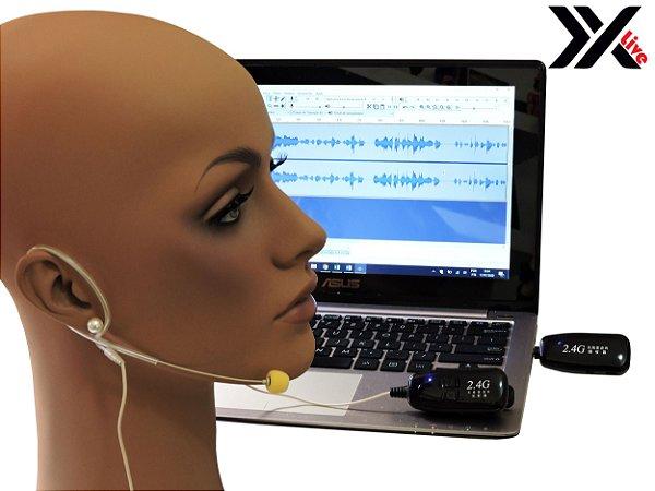 Microfone sem Fio Wireless 2.4G XXLive - Transmissor e Receptor para Shows, Palestras, Academias, Escolas - G18A