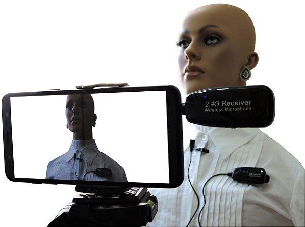 Microfone Lapela sem Fio Wireless Lapela 2.4G XXLive - Transmissor e Receptor para Youtubers, Shows, Palestras, Academias, Escolas - G18L