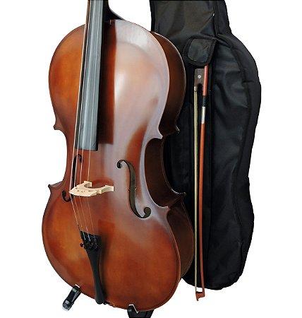 Violoncelo Barth 4/4 Old- Capa Bag + Breu + Arco - Profissional Completo!