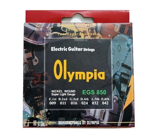 Cordas para Guitarra Elétrica e Acústica - marca Olympia - medidas 009