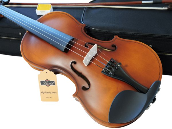 Kit Violino Barth Violin Old (envelhecido) 4/4 com Estojo  BK, Arco,Breu + Afinador mod. AT-01A