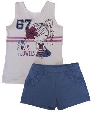 Conjunto Feminino Regata e Shorts