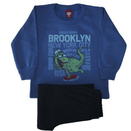 Conjunto Moletom Dino Brooklyn