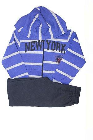 Conjunto Moletom  New York Listrado