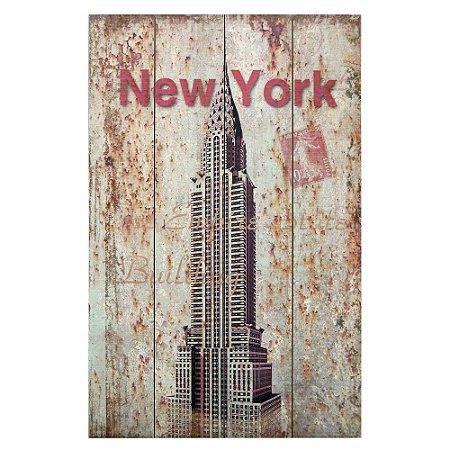 Enfeite De Madeira Mot. New York AA-66 B