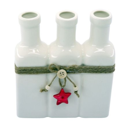 Vaso Ceramica c/3 Garrafas Grande Branco AA-85 B