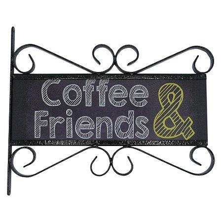 Placa Aramado Coffee & Friends AB-40