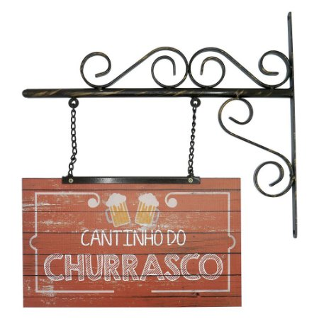 "Placa ""Cantinho do Churrasco"" AB-54"